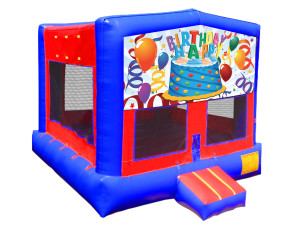 Happy Birthday Bounce $135.00 15ft x 15ft. DELIVERY,SETUP, & PICKUP for a 24 hour rental $135.00! PICKUP on Saturday keep Until Monday $135.00!