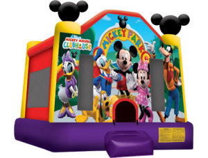 Mickey Park Clubhouse Bounce $135.00 15 x 15ft. INCLUDING DELIVERY, SETUP, & PICKUP for a 24 hour reservation.
