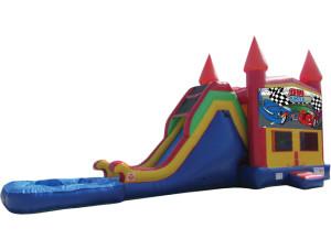 Race Car Jump & Slide w/ Pool