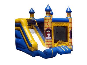 4-n-1 Castle Combo 14 x 14ft. $175.00 INCLUDING DELIVERY, SETUP, & PICKUP for a 24 hour reservation.