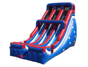 New! Huge! & Affordable 24 foot Dual Lane Slide