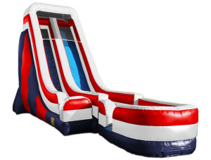 24' Tall Slide Red/White/Blue