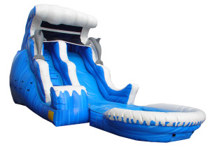 18' Double Drop Wave Slide w/Pool