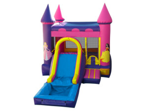 3 in 1 Pink Castle Combo with pool (Wet or Dry)