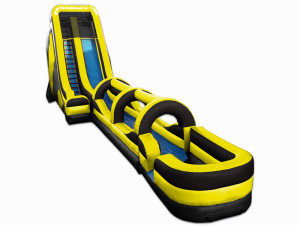 22' Tall Slide Black/Gold with Slip N Slide