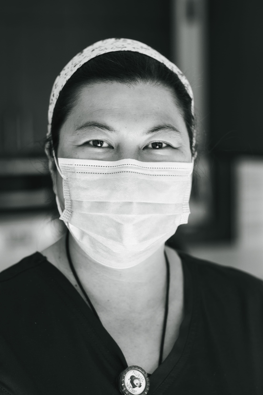 masked healthcare worker