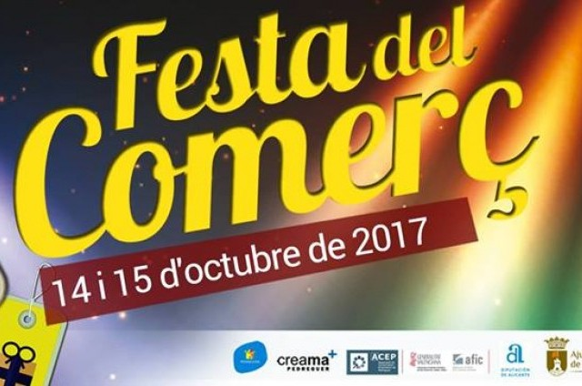 FESTA DEL COMERÇ 2017 DE PEDREGUER  (14 I 15 D'OCTUBRE)