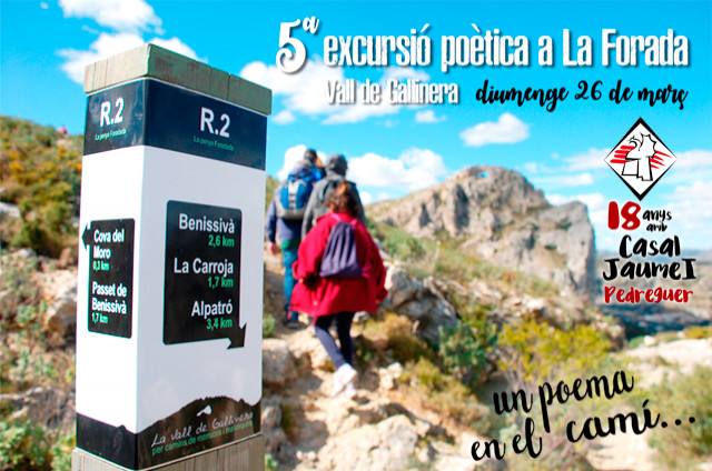 5ª Excursió Poètica a La Foradà - Casal Cultural Jaume I Pedreguer