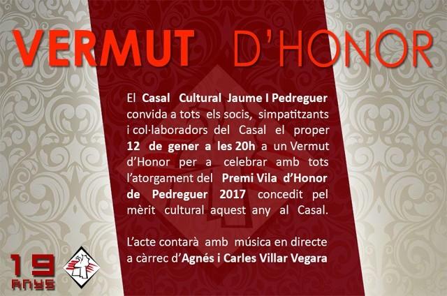 VERMUT D'HONOR - CASAL JAUME I PEDREGUER