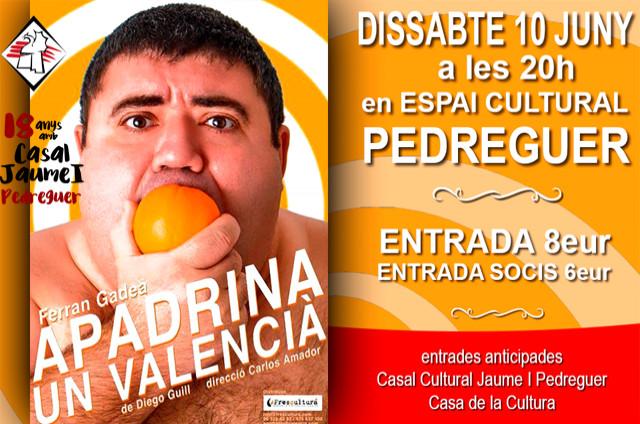 Apadrina un valencià - Ferran Gadea- Casal Cultural Jaume I Pedreguer