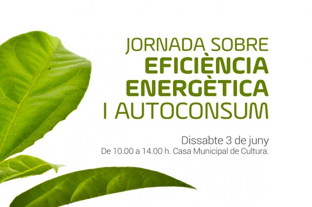 JORNADA SOBRE EFICIÈNCIA ENERGÈTICA I AUTOCONSUM