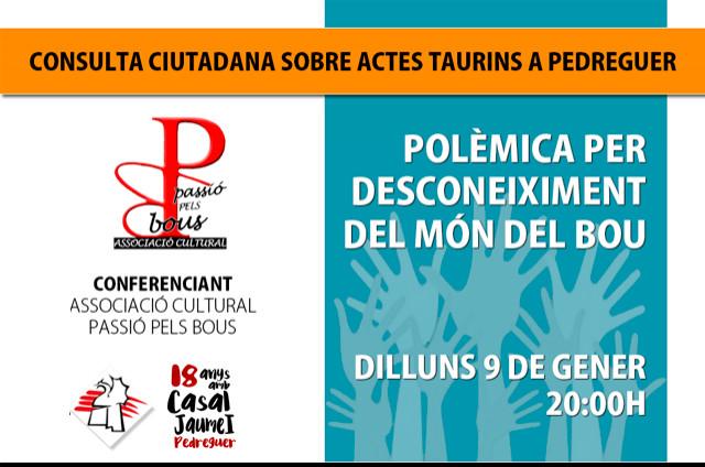 Consula Actes Taurins, Conferència Associació Cultural Passió Pel Bou - Casal Jaume I Pedreguer