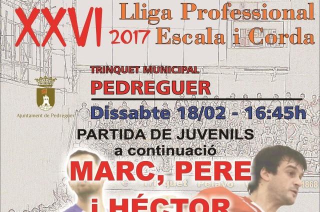 XXVI Lliga Professional d'Escala i Corda 2017