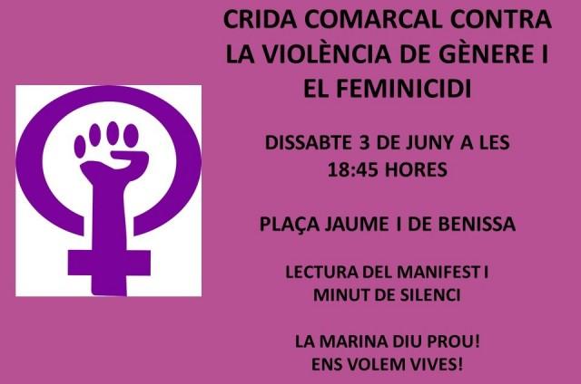 CRIDA COMARCAL CONTRA LA VIOLÈNCIA DE GÈNERE I EL FEMINICIDI