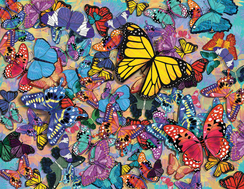 Butterfly Frenzy 500 Piece Puzzle