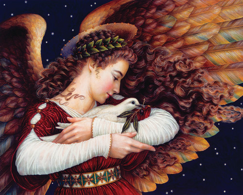 Angel and Dove 1000 Piece Jigsaw Puzzle