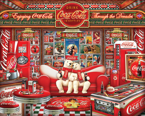 Coca-Cola Decades 1000 Piece Jigsaw Puzzle
