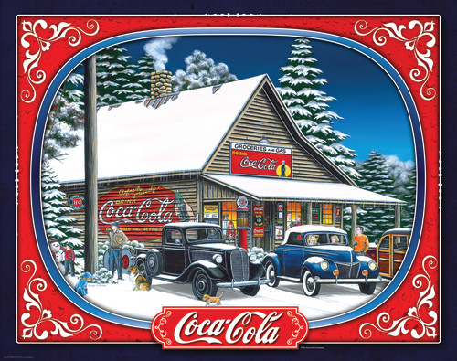 Coca-Cola Holiday Tidings 1500 Piece Jigsaw Puzzle