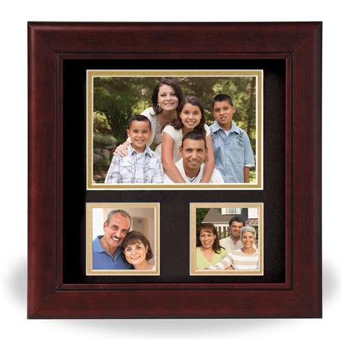 Decorative 8-Inch by 8-Inch Collage 3-Picture Frame