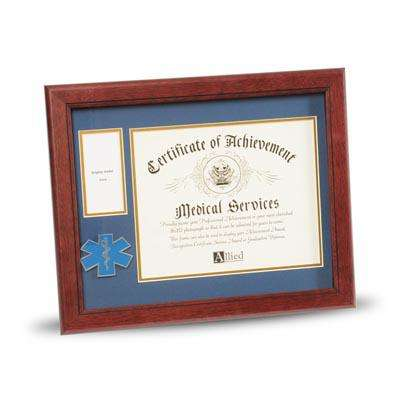 EMS Medallion 8-Inch by 10-Inch Certificate and Medal Frame