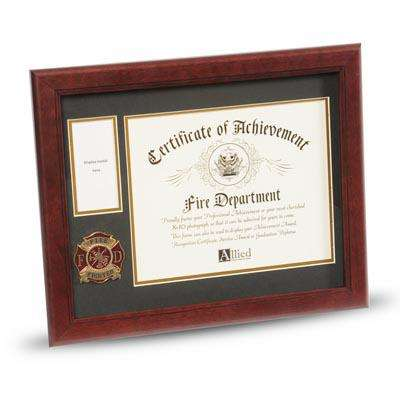 Firefighter Medallion 8-Inch by 10-Inch Certificate and Medal Frame