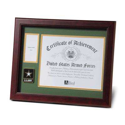 Go Army Medallion 8-Inch by 10-Inch Certificate and Medal Frame