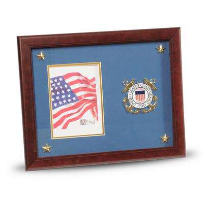 U.S. Coast Guard Medallion 5-Inch by 7-Inch Picture Frame with Stars