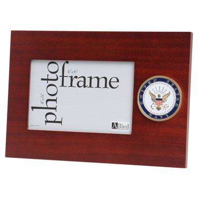 us navy medallion 4 inch by 6 inch desktop picture frame