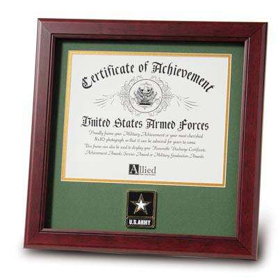 Go Army Medallion 8-Inch by 10-Inch Certificate Frame