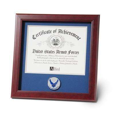 Aim High Air Force Medallion 8-Inch by 10-Inch Certificate Frame