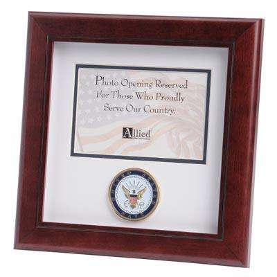 us navy medallion 4 inch by 6 inch landscape picture frame