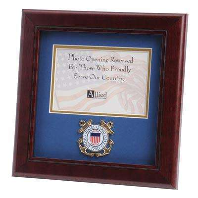 U.S. Coast Guard Medallion 4-Inch by 6-Inch Landscape Picture Frame