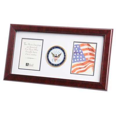 U.S. Navy Medallion 4-Inch by 6-Inch Double Picture Frame