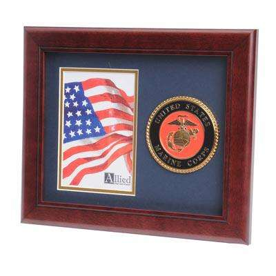 U.S. Marine Corps Medallion 4-Inch by 6-Inch Portrait Picture Frame