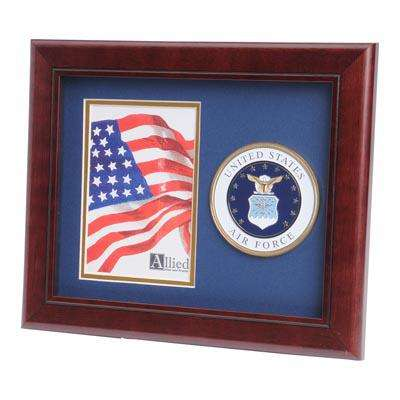 U.S. Air Force Medallion 4-Inch by 6-Inch Portrait Picture Frame