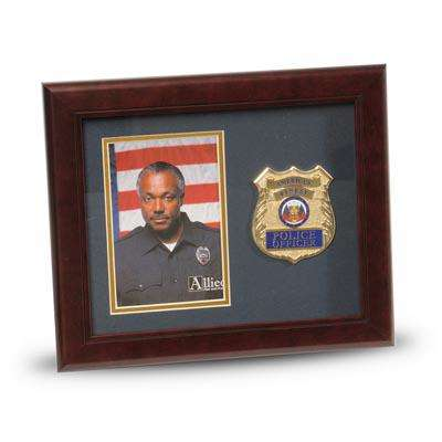 Police Department Medallion 4-Inch by 6-Inch Portrait Picture Frame