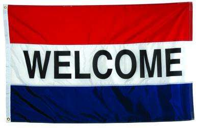 Welcome Message Flag
