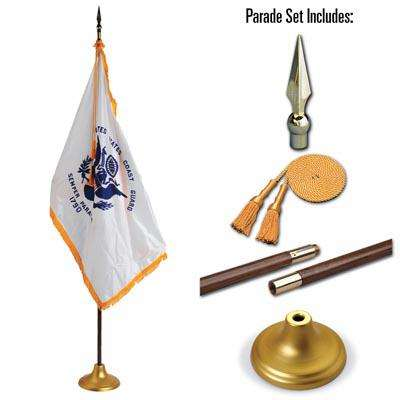 U.S. Coast Guard 4 x 6 Indoor Display and Parade Flag Set