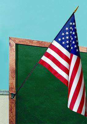 U.S. Classroom Flag - 24 x 36 - Printed Polyester - 48 Wood Staff