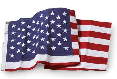 U.S. Flag - 4 x 6 Embroidered Cotton