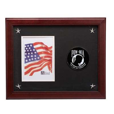 POW MIA Medallion 5-Inch by 7-Inch Picture Frame with Stars