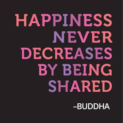 "Buddha ""Happiness"" Inspirational Magnet"