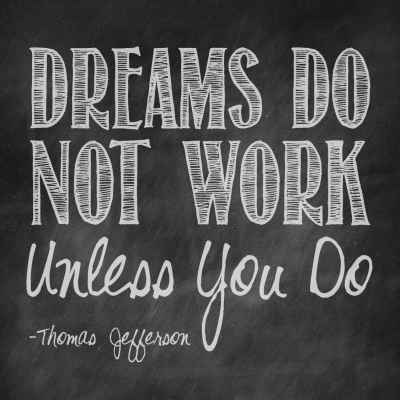 "Thomas Jefferson ""Dreams"" Inspirational Magnet"