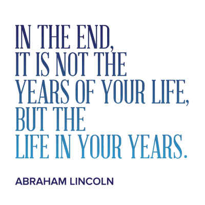 "Abraham Lincoln ""Years"" Inspirational Magnet"