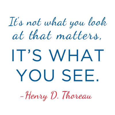 "Henry David Thoreau ""What You See"" Inspirational Magnet"