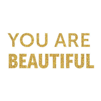 """You Are Beautiful"" Inspirational Magnet"