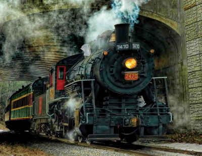 Green Mountain Express 500 Piece Jigsaw Puzzle