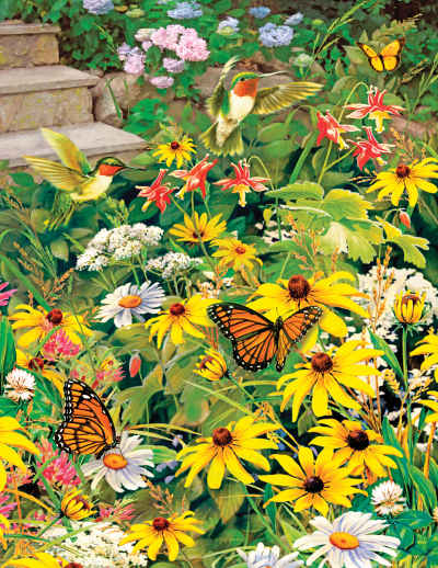 Busy Blooms 500 Piece Jigsaw Puzzle