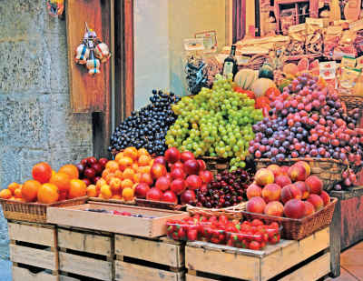 Fruit Market 500 Piece Jigsaw Puzzle