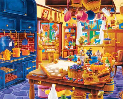 Baker's Kitchen 1000 Piece Jigsaw Puzzle